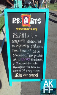PS Arts chalkboard mission statement