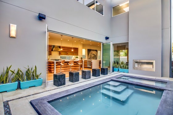 Itu0027s Endless Summer With This Sparkling Pool U0026 Indoor/Outdoor Living Space!