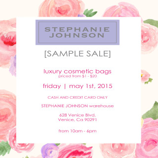First Fridays-Stephanie Johnson Sample Sale flyer