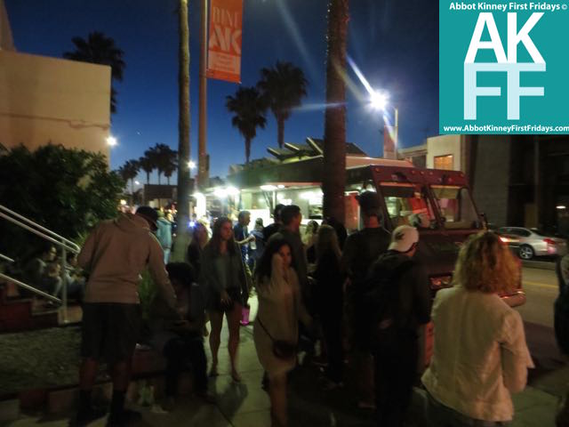 AK crowd at night on 1st Friday