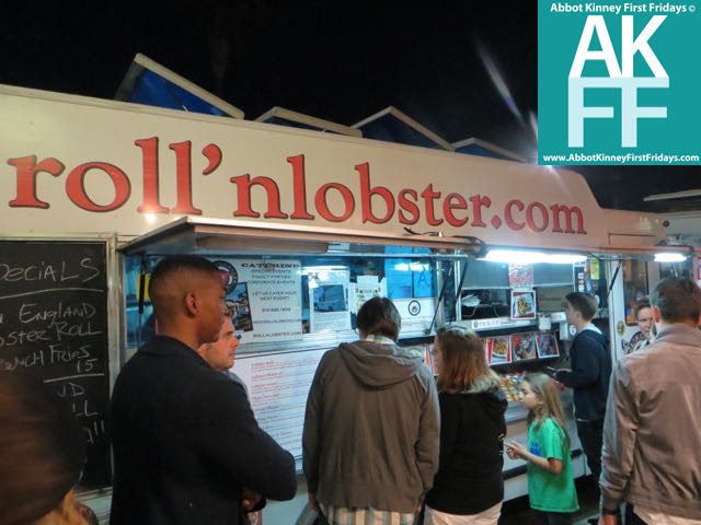 Big line at Roll n Lobster - Delish!