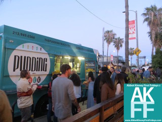 Pudding Truck line Food truck on Abbot Kinney for First Friday
