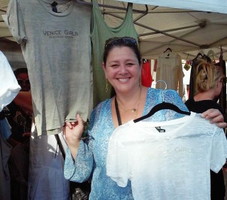 Actress Camryn Manheim has a boith at AK Fest 2014 donates to Venice Girls-photo Janet Gervers copyright 2014