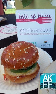 Bank of Venice slider Taste of Venice sign