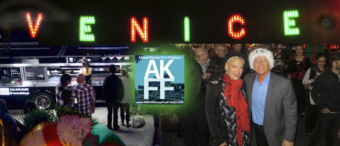 Abbot Kinney First Fridays & Venice Sign Lighting on December 4, 2015