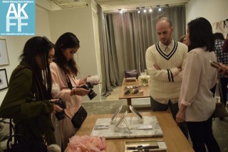 Checking out the goods from Casetify at Cuyana 1st Fridays