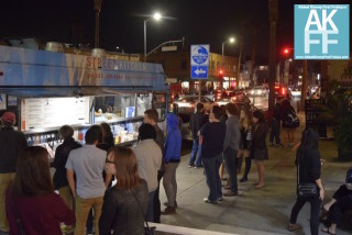 Food Truck Line at Street Kitchen all night