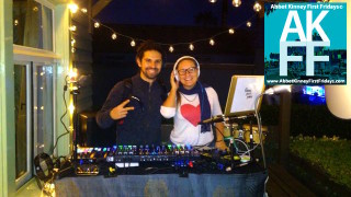 Djs at Bulldog realty First Fridays