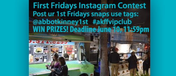 #firstfridayscontestInstagram Contest 060316 feature post