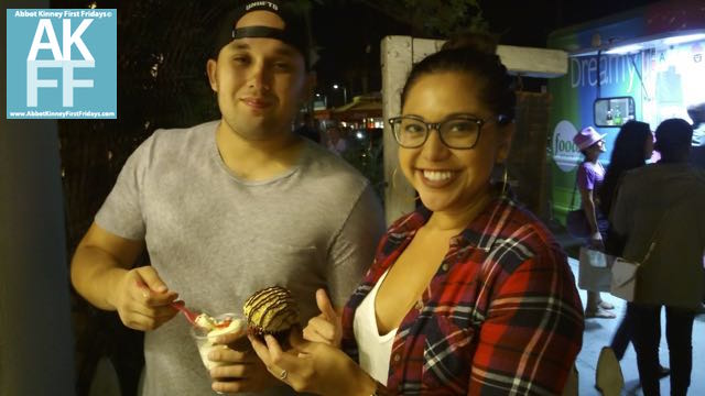 couple-enjoying-awesome-desserts-First Fridays Venice