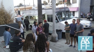 ridges-churro-bar-food-truck-sunset draws a crowd
