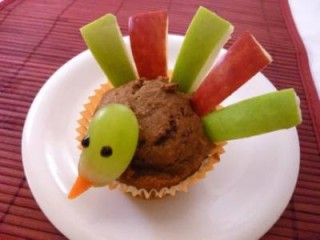 pumpkin turkey muffin