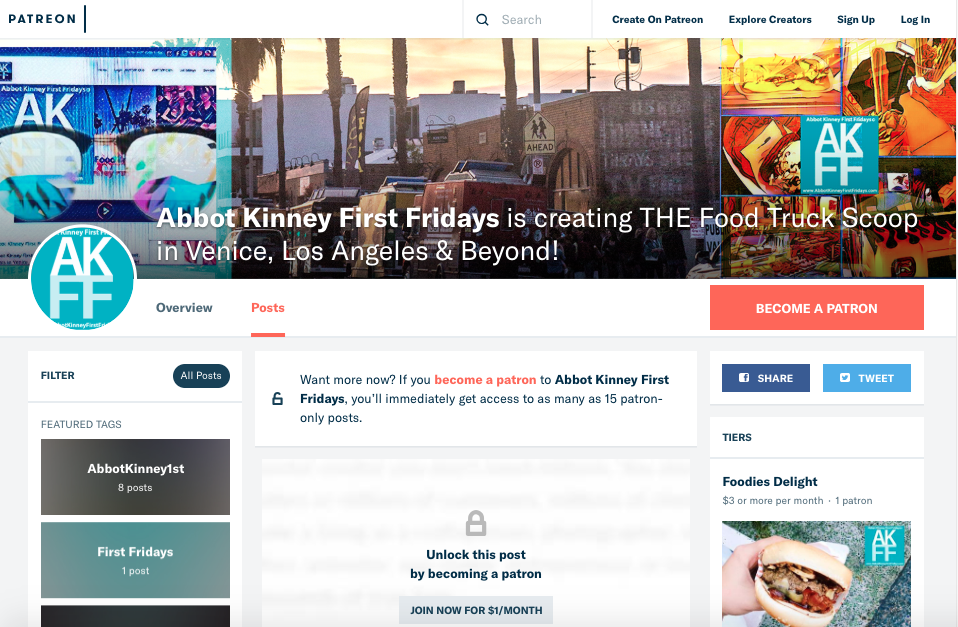AbbotKinney1st on Patreon Community