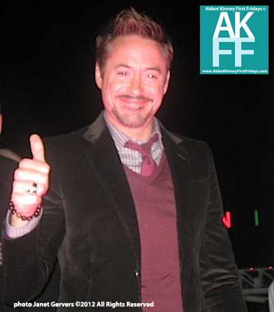 Robert-Downey-JR- at Venice Sign Lighting